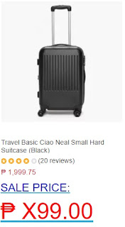 Travel Basic Ciao Neal Small Hard Suitcase (Black)