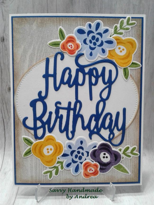 Savvy Handmade Cards Fab Flowers Birthday Card