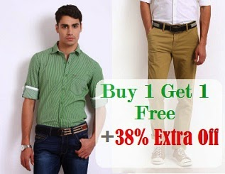 (Expired) Buy 1 Get 1 Free Offer + Extra 38% Off on Trousers & Shirts @ Myntra