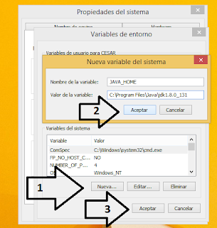Configuramos la variable PATH y JAVA_HOME