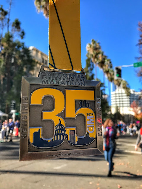 California International Marathon (CIM) medal 12/3/17