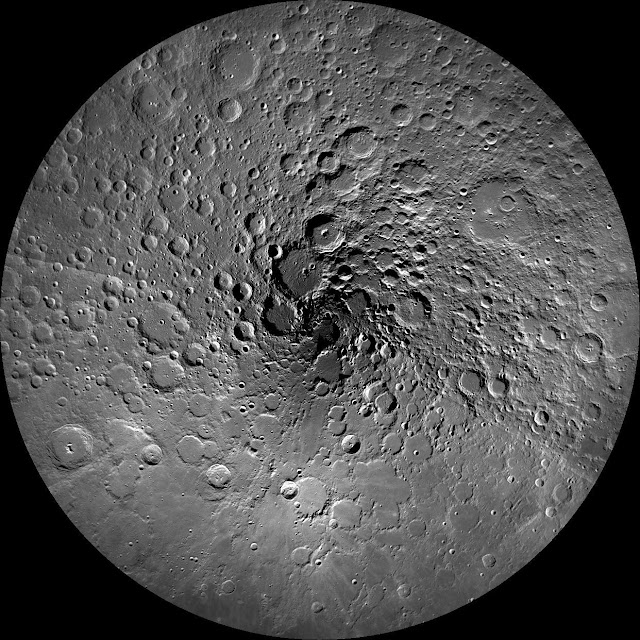 The north pole of the Moon