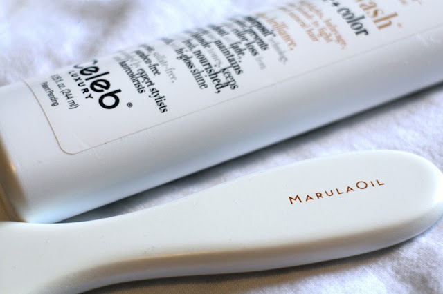 Marula Oil brush and Colorwash shampoo