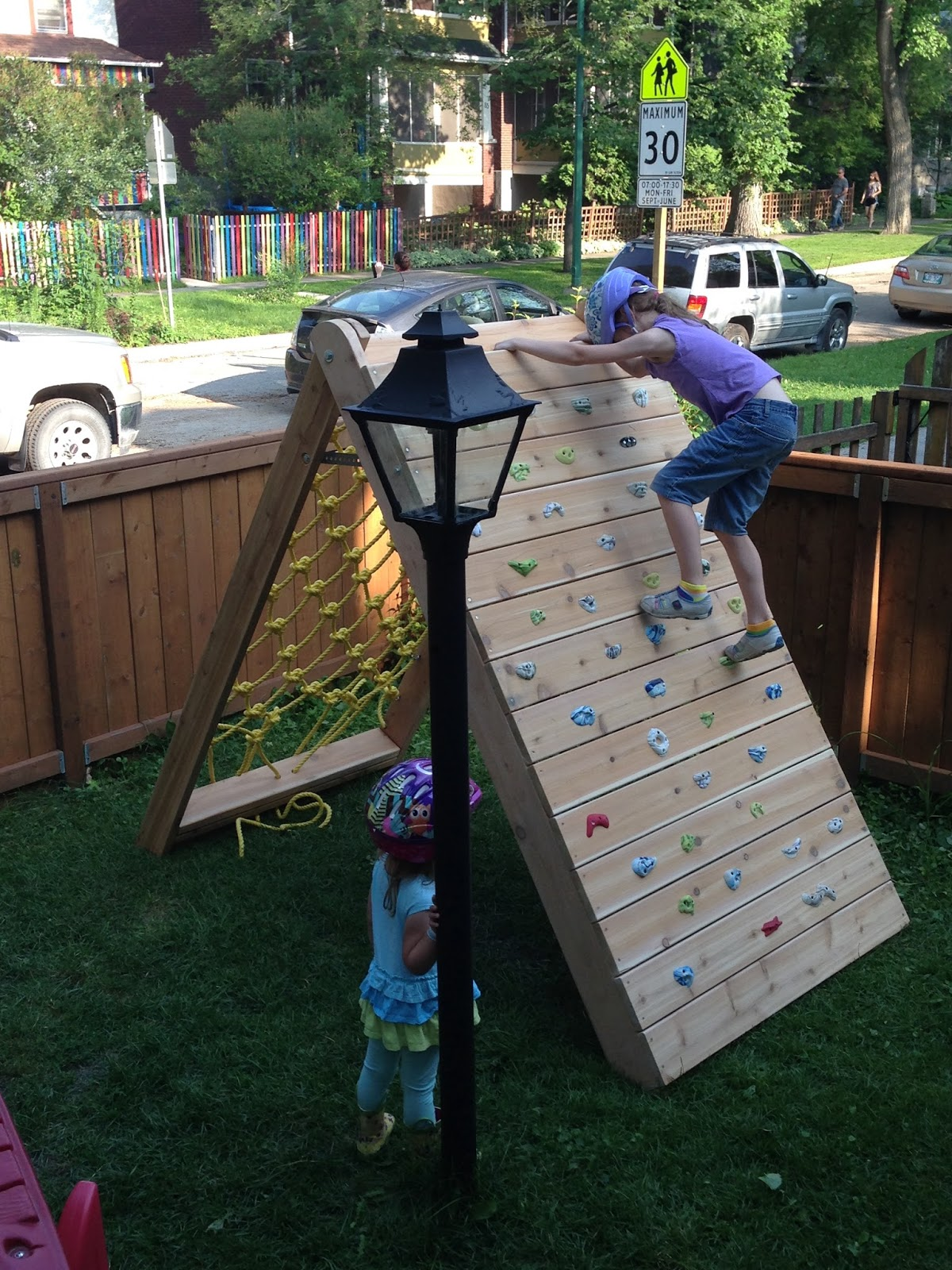 Mincing Thoughts Kids Climbing Play Structure Building