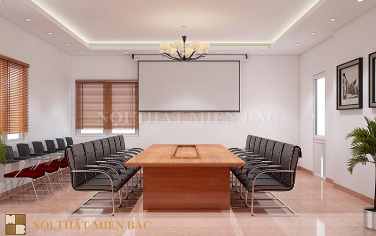 Tư vấn thiết kế nội thất phòng họp nhỏ sử dụng màu tươi sáng