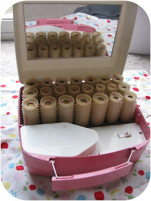 vintage pink cinderella deluxe hot rollers