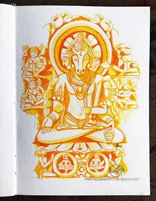 Lord-Pahupatinath-Inktober2018-HuesnShades