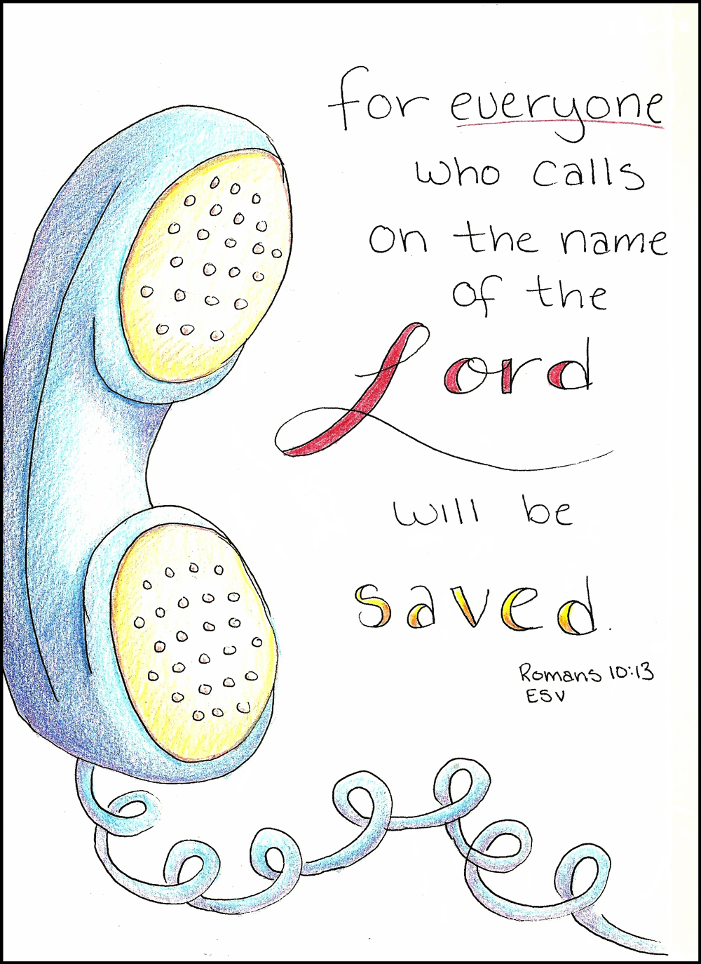 doodle through the bible romans 10 13