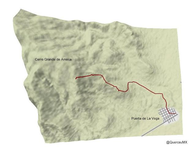 Mapa de ruta en Cerro Grande de Ameca - 2011