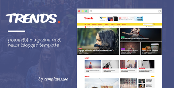 Trends Magazine Blogger Template