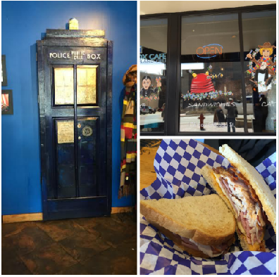 Blue Box Cafe inspired by Dr. Who in Elgin, Illinois