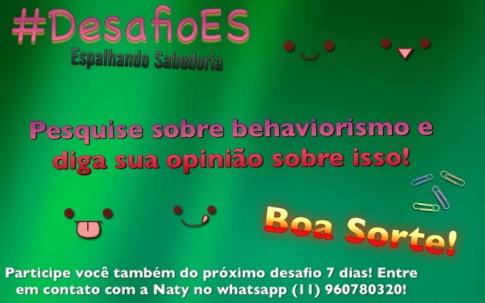 DesafioES - O que é Behaviorismo