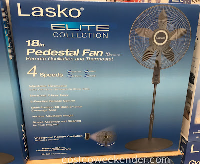 Lasko S18961 Elite Collection 18in Pedestal Fan With