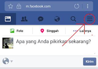 klik menu facebook