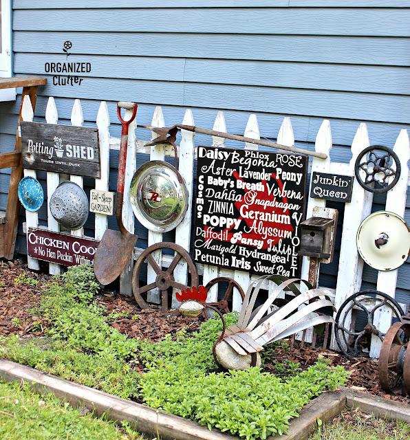 A JUNK Garden Gallery Fence organizedclutter.net