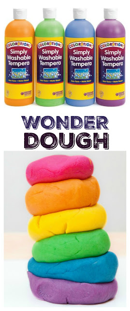 WONDER DOUGH: an amazing, moldable dough that transforms in magical ways as kids play! This play dough is made from paint & requires NO COOKING!