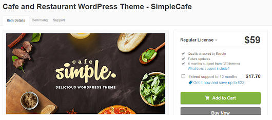 Cafe and Restaurant WordPress Theme - SimpleCafe (Restaurants & Cafes)