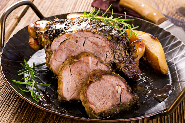 Roasted lamb is a traditional Icelandic food