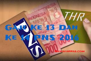 Gaji Ke 13 Dan Ke 14 PNS 2016