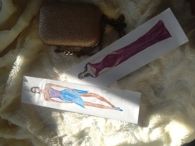 Making Of a Pencil Drawing ( A Portrait Drawing) + Two  Fashion Illustrations (Special Occasion : Blue and Purple)