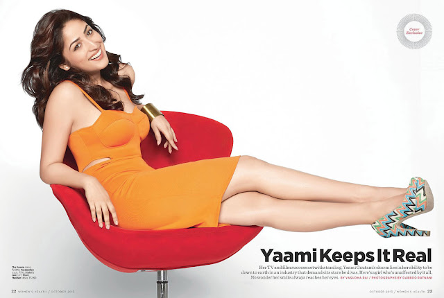 Yami Gautam in Sexy Orange Mini-dress