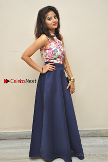 Kannada Actress Mahi Rajput Pos in Floral Printed Blouse at Premam Short Film Preview Press Meet  0026.jpg