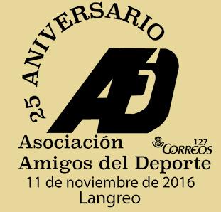 Matasellos XXV Años de la Asociación Amigos de Deporte Langreo