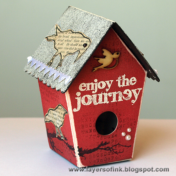 Picket Fence Birdhouse - Layers of ink