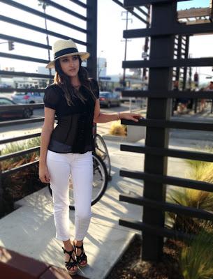 White jeans Panama Hat