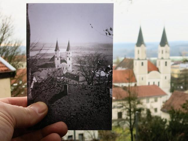 Kloster Gars am Inn - 1930/40 und 2016 - Bild in Bild