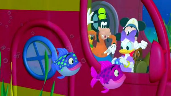GOOFY: There's even a polky-dotted fishy or two