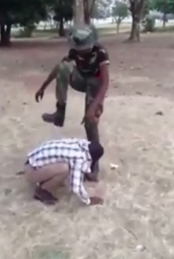 """Power Drunk!!!! Man tortured by Army cadet for calling female officer """"Beautiful"""""""