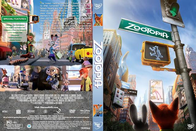 Capa DVD Zootopia