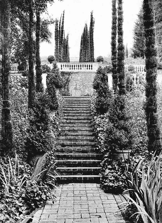1921 garden stairs, a strange photograph