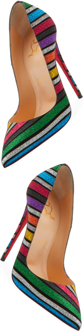 Christian Louboutin So Kate Glitter Stripe Pump