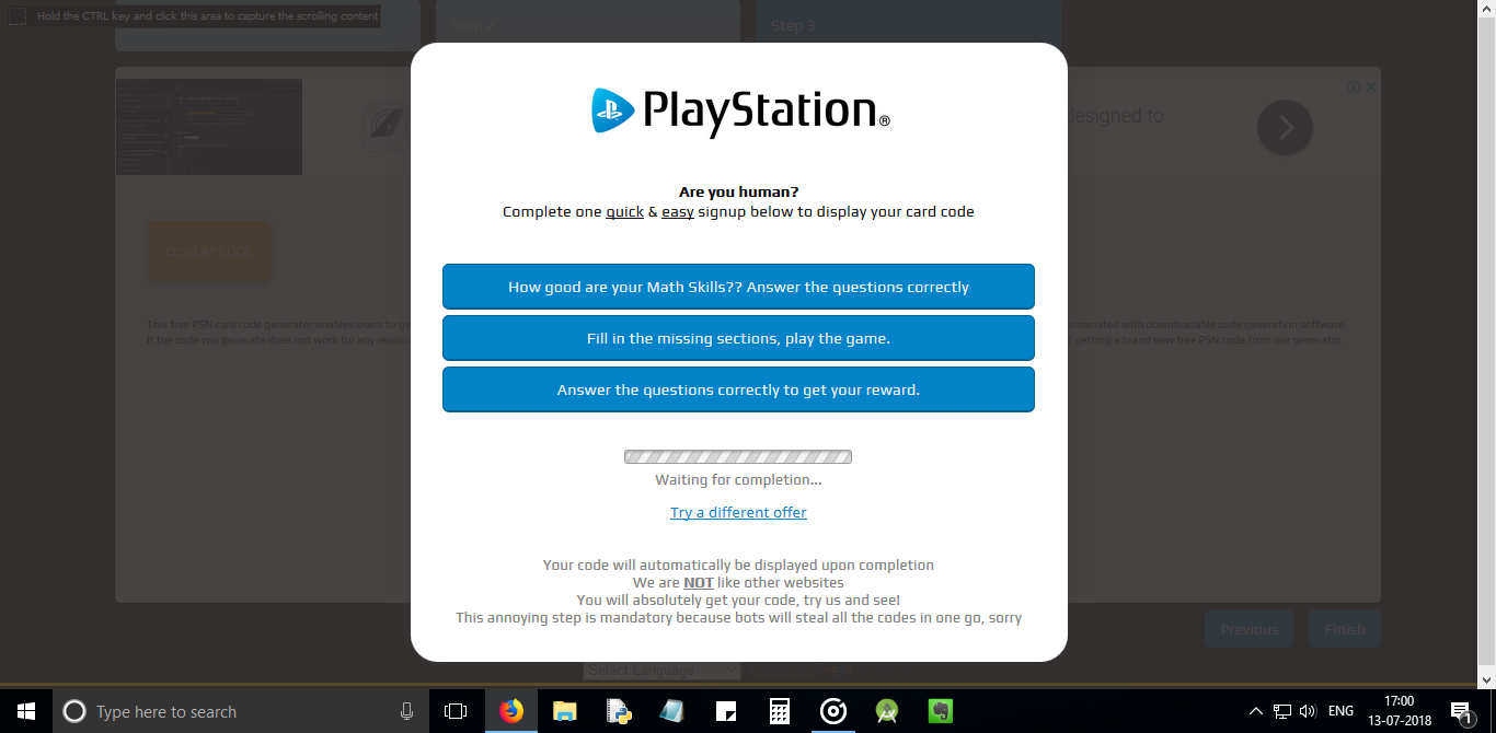 How to identify free PSN/Xbox/V-bucks scams online!