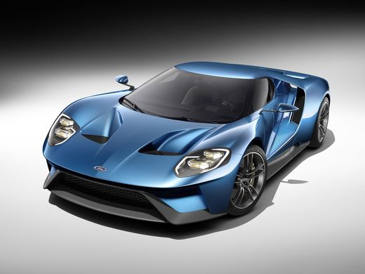 2016 Ford Show new GT supercar at the Detroit  Front view