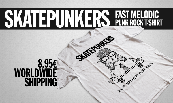 """""""Fast Melodic Punk Rock"""" new t-shirt in stock"""
