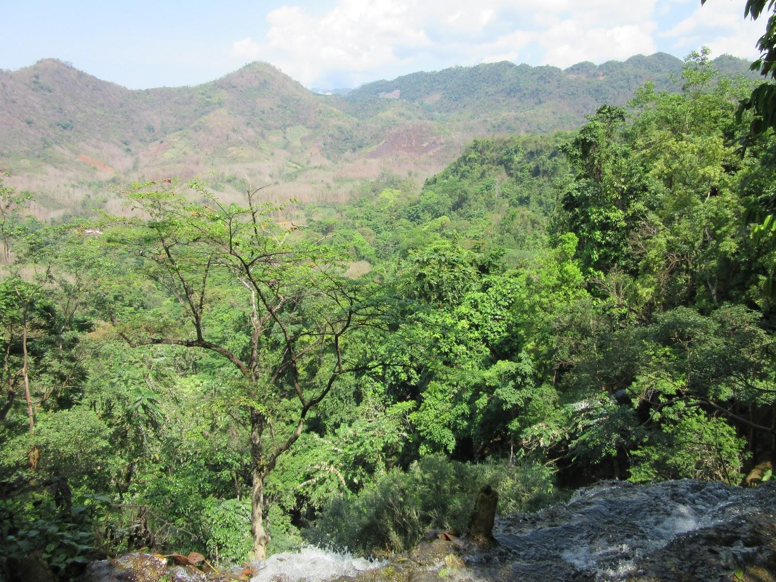 Vistas desde la cascada Kouang Si, en Luang Prabang, Laos