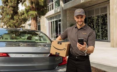 Amazon, maletero, entrega, pedidos,