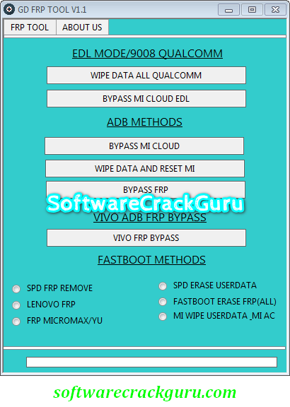 GD FRP TOOL V1.1 2019 (LATEST ALL IN ONE FRP TOOL) [Working 100%]