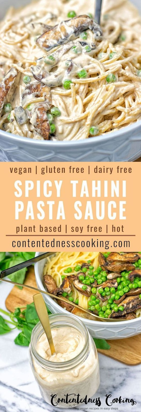 SPICY TAHINI PASTA SAUCE #spicy #tahini #pasta #pastarecipes #sauce #veganrecipes #veggies #vegan #glutenfree #dairyfree