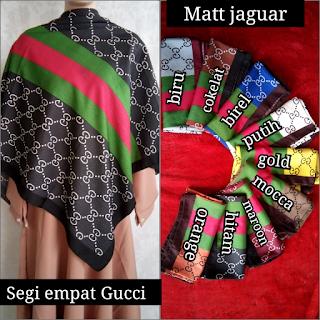 Jilbab Segi Empat Jaguar Motif Gucci Terbaru
