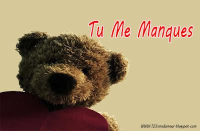 Tendre message d'amour tu me manque ma chérie
