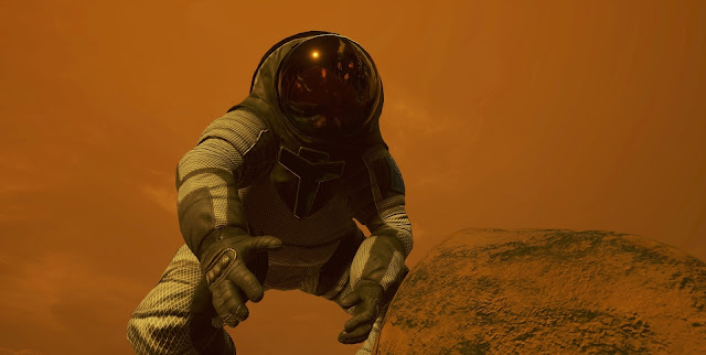 Mars 2030 VR image - astronaut