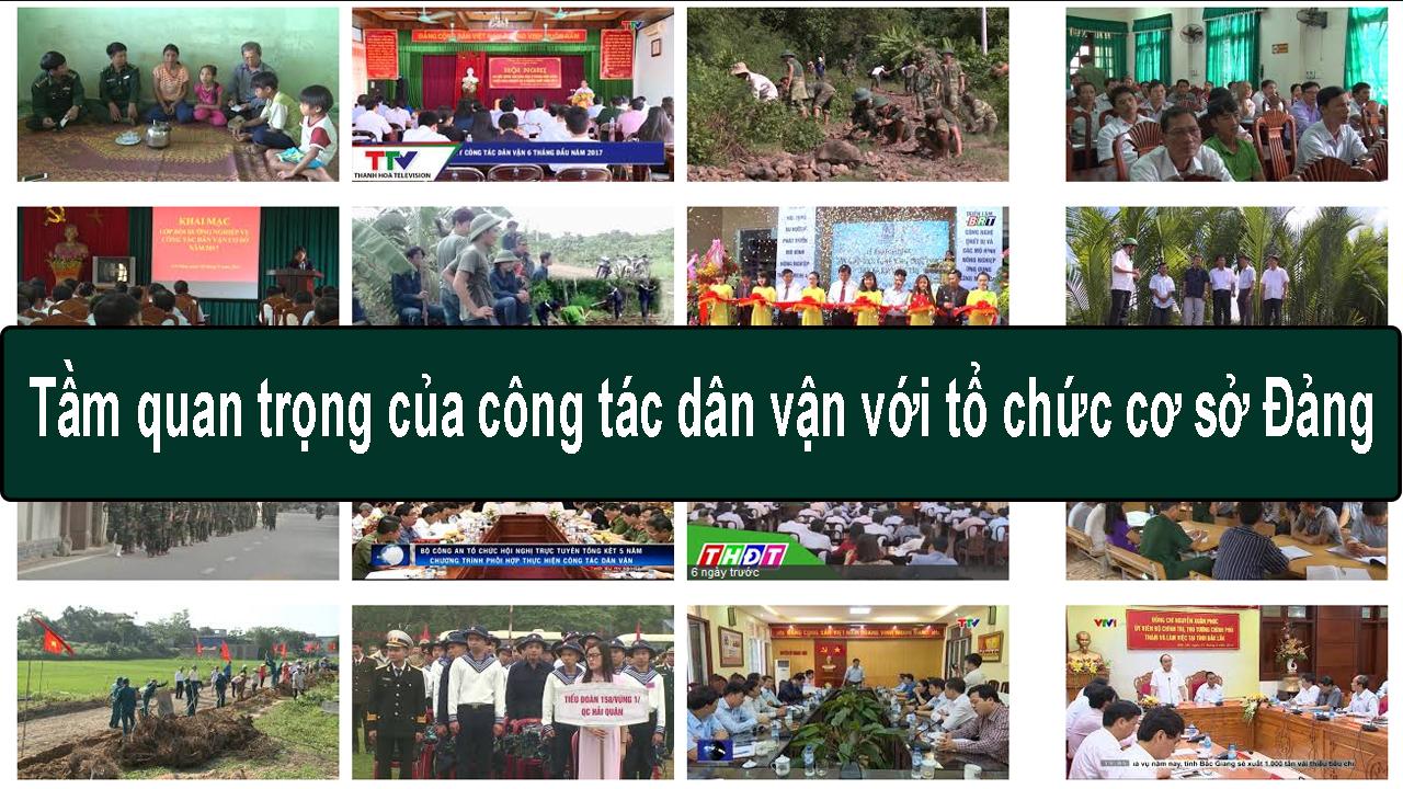Tầm quan trọng của công tác dân vận với tổ chức cơ sở Đảng