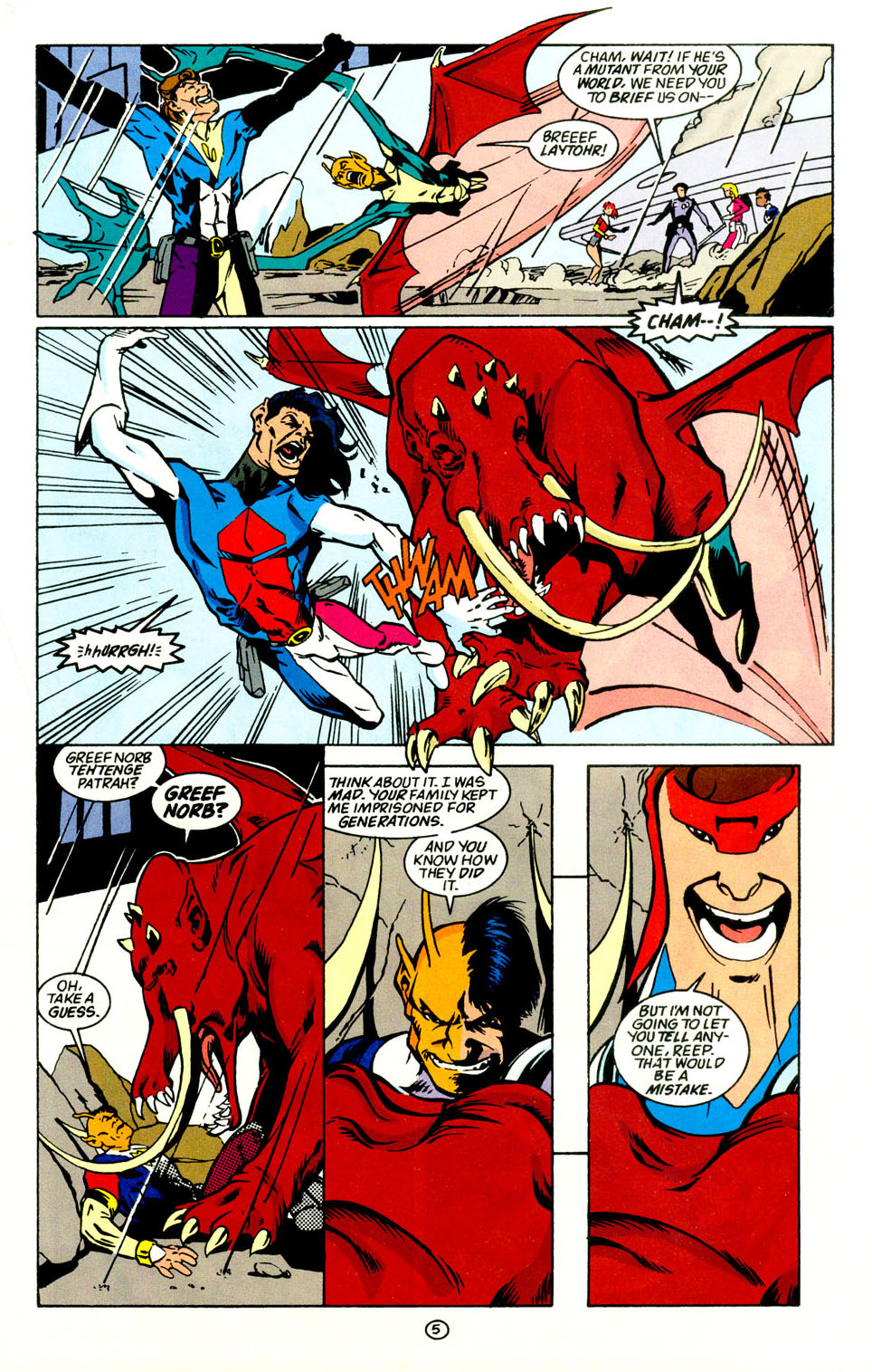 Legion of Super-Heroes (1989) 69 Page 6