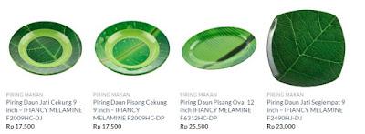 best seller produk piring melamin motif daun
