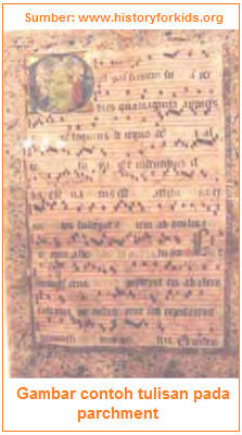 Gambar contoh tulisan pada parchment