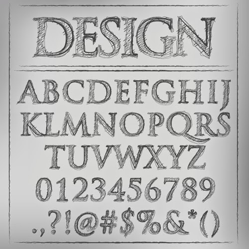 Sketch Vector Alphabet